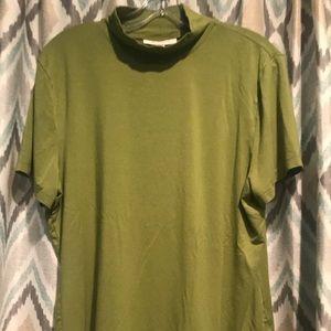 JM Collection Womans Green Short Sleeve Top XL